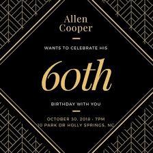 60th birthday invitations u2013 unitedarmy info