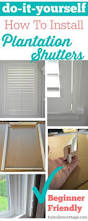 Wooden Window Shutters Interior Diy Beautiful Home Trim Work And Our Plantation Shutters Don U0027t