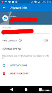 outlook com contact entries are not syncronising