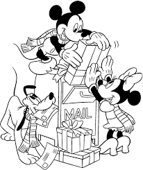 mickey mini colouring pages christmas pictures