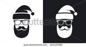 santa beard santa claus beard with christmas icon free vector