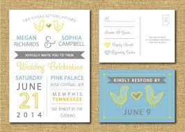 same wedding invitations same wedding invitation and rsvp postcard custom design pri