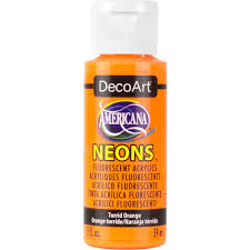 americana neon lights 2 oz torrid orange acrylic paint dhs2 29