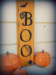 Folk Art Halloween Decorations Boo Halloween Decor Sign By Rosalynsanterre10 On Etsy 15 00