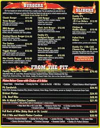 daddyo u0027s bbq and sports bar american restaurant in rossville