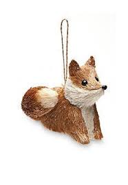 glass animal ornament anthropologie eu fox