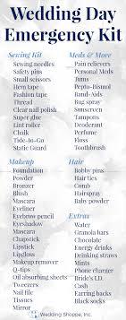 complete wedding checklist the must wedding day emergency kit