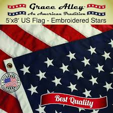 Flag White On Top Red On Bottom Amazon Com American Flag American Made By Grace Alley 3x5 Ft