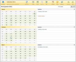 Excel 2010 Calendar Template Calendar Templates Excel Ticker