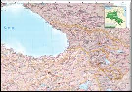 Georgia Road Map Nationmaster Maps Of Georgia 9 In Total