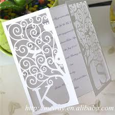 Tree Wedding Invitations Laser Cut Tree Wedding Invitations Red Blue Ivory White