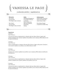 Resume Templates Samples Free Resume Templates To Highlight Your Accomplishments