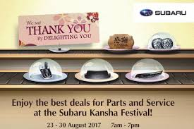 thanksgiving day in japan subaru u0027s kansha festival 2017 offers hefty discount on parts