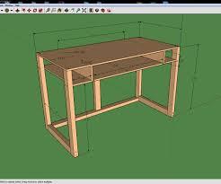 Simple Computer Desk Simple 2 U0027 X 4 U0027 Computer Desk 6 Steps With Pictures
