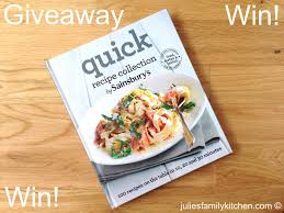 giveaway win a copy of quick recipe collection by sainsbury u0027s