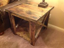 Rustic End Tables White Rustic X End Table Diy Projects