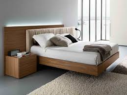 Bed Frame Wood Wood Modern Bed Frame The Harmonious And Pleasant