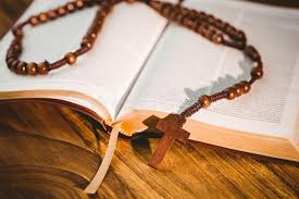 lutheran rosary open bible with rosary stock image image of lutheran
