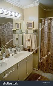 matching color schemes luxurious well decorated modern bathroom matching stock photo