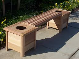 download wooden bench with planters solidaria garden
