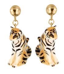 boucle d oreille leopard boucle d u0027oreille tigre j107 nach bijoux