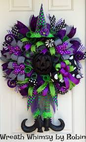 halloween wreath halloween lime purple black deco mesh witch wreath fall wreath