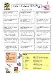 english worksheet let s talk about money esl resources