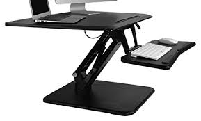 adjustable standing desk converter flexispot 32 height adjustable standing desk converter w quick