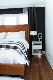 In The White Room With Black Curtains 75 Stylish Black Bedroom Ideas And Photos Shutterfly