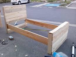 bed frame from pallets pallet furniture plans