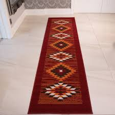 Aztec Runner Rug Orange Tribal Aztec Runner Rug Milan Kukoon
