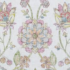 Upholstery Drapery Fabric A Large Scale Floral Upholstery And Drapery Fabric In A Soft Pink