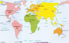 map asie world mineral map