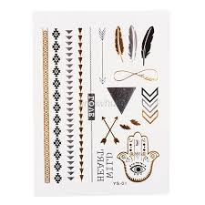 pictures of flash tattoos metallic jewelry inspired metallic