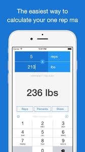 Calculate Your Max Bench Reps Calculator Utility For Estimating Your 1 Rep Max On The App