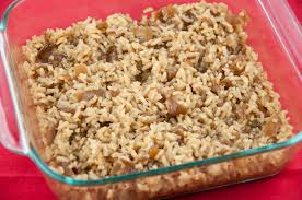 Easy Main Dish - french onion rice bake wishes and dishes