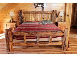 Wood Log Bed Frame Log Bed Frame Plans Na Ryby Info