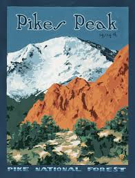 Wpa Rock Garden by Pikes Peak And Garden Of The Gods 1930s Wpa Poster Pikes Peak