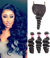 pics of loose wave hair 3 bundles brazilian virgin loose wave hair weave with pre plucked