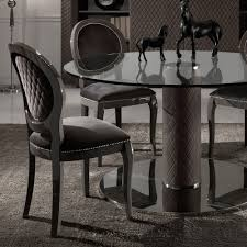 elegant velvet lacquered dining chair italian nubuck leather round glass dining table and chairs set