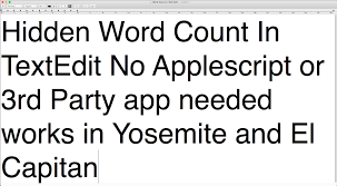 How To Count Words In Textedit In Mac Os X Built In Word Count In Textedit No Applescript Needed