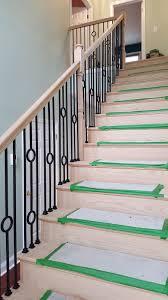 Sanding A Banister Hardwood Floor Wholesale Installers Stair Contractor Nj New