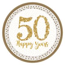 50th anniversary plates 8 x golden wedding plates sparkling gold 50th anniversary plates