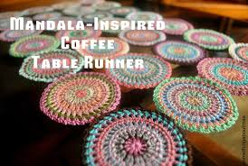 Coffee Table Runners Crochet Project Mandala Inspired Coffee Table Runner