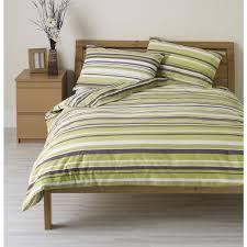 green bed set wilko duvet set double striped green at wilko com
