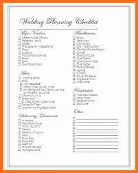 simple wedding planner simple wedding checklist soap format