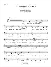his eye is on the sparrow chords by ethel waters melody line