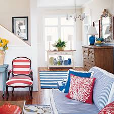Yellow And Blue Decor Coastal Colors Red White U0026 Blue Coastal Living