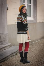 ruby red tights black boots cream dresses gold hats forest
