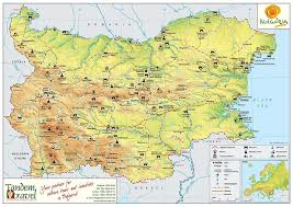 Travel Map Of Europe by Map Of Bulgaria Tandem Travel